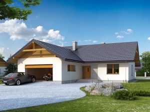 Projekt domu Abra 2 drewniana