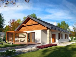 Projekt domu Bono drewniany