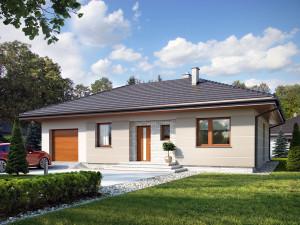 Projekt domu Galia drewniana