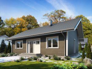 Projekt domu Efi drewniany